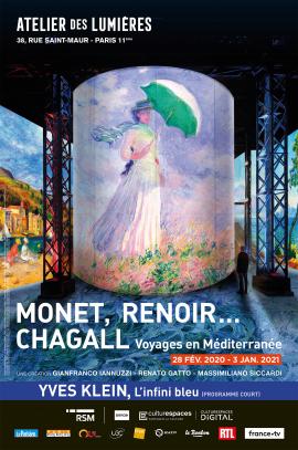 Voyages en Méditerranée, Monet, Renoir, Chagall (sortie en car – il reste quelques places)